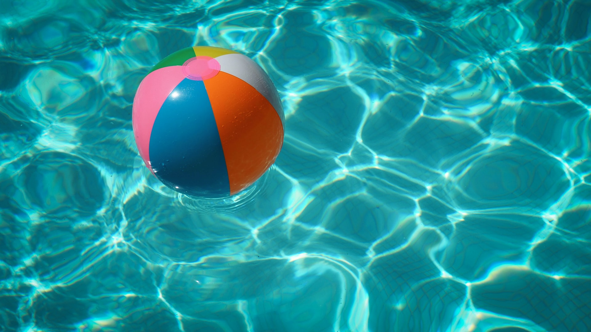 beach ball in pool